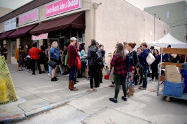 The line outside Boartooth Tatoo